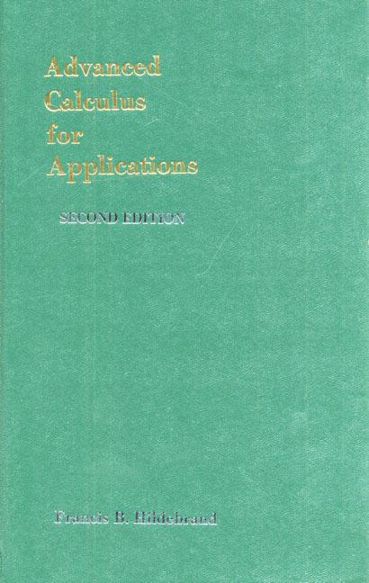 advanced calculus for engineers hildebrand pdf