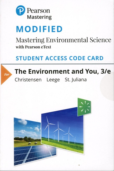 Pearson Education Modified Mastering Environmental Science With