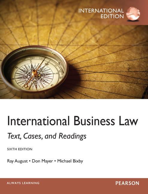 International law, sixth edition (aspen casebook): barry e. Carter.