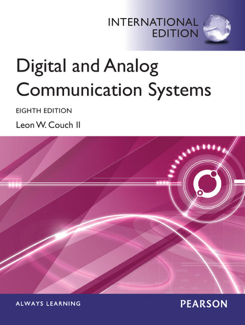 Pearson Education Digital Amp Analog Communication Systems