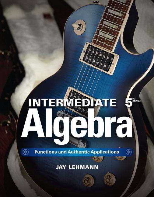 Intermediate Algebra by John E. Hornsby, Terry McGinnis...10th Edition