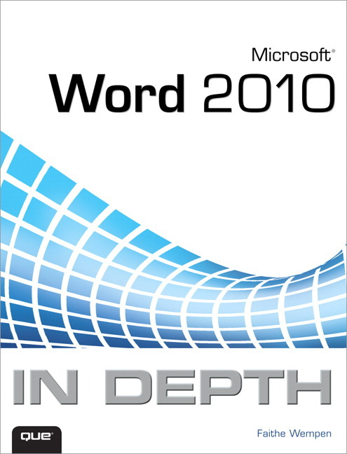 Pearson Education Microsoft Word 2010 In Depth