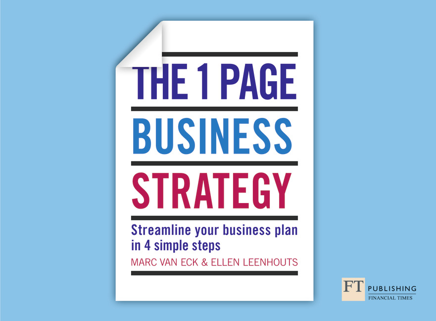 Page Strategy The One Page Business Strategy