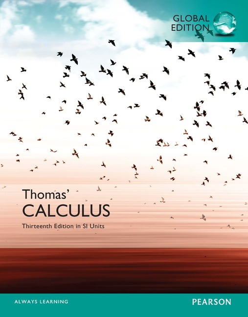 Pearson Education Thomas Calculus In SI Units