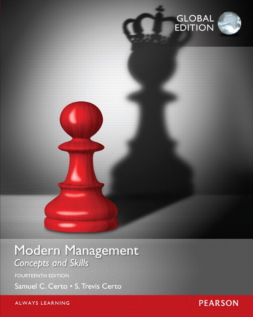 Pearson Education Modern Management Concepts And Skills Global