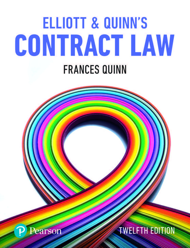 Elliott & Quinns Contract Law 12e 9781292251400 Malaysia
