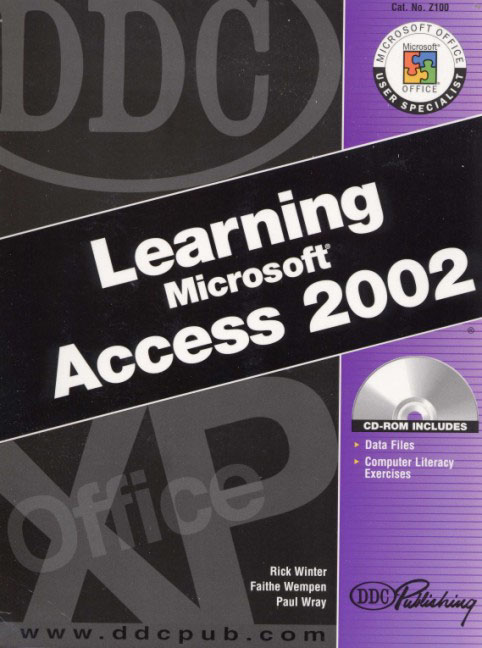 DDC Learning Microsoft Access 2002