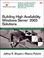 Building High Availability Windows Server� 2003 Solutions