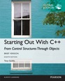 Starting Out with C++ from Control Structures through Objects, Brief Version, Global Edition